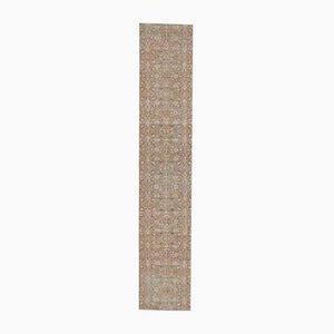 3x11 Handgewebter türkischer Vintage Oushak Teppich mit Wollbezug