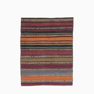 Handgefertigter türkischer Vintage 6 × 8 Oushak Kelim Wollteppich aus Wolle