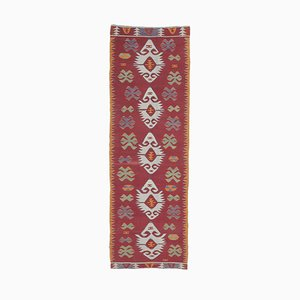 3x9 Vintage Turkish Oushak Handmade Wool Kilim Runner Rug