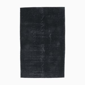 6x10 Vintage Turkish Modern Area Rug in Black