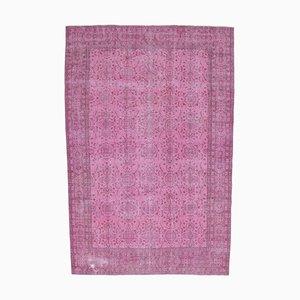 7x10 Vintage Turkish Oushak Handmade Wool Carpet