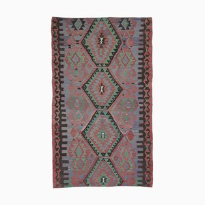 Türkischer Vintage 6x10 Oushak Kelim Wollteppich aus Wolle
