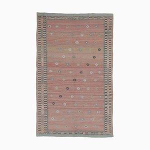 6x9 Vintage Turkish Oushak Handmade Wool Kilim Area Rug