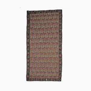 Handgeknüpfter türkischer Vintage 7x13 Kilim Oushak Teppich