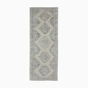 5x12 Antique Middle East Handmade Wool Wide Faded Runner Rug