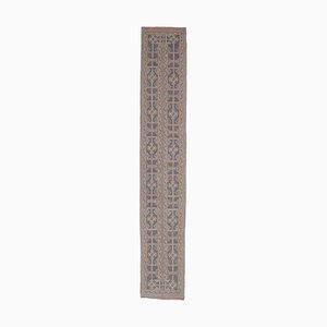 2x11 Vintage Turkish Oushak Handmade Wool Narrow Runner Rug