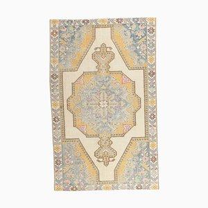 Handgeknüpfter türkischer Vintage Oushak Orient Teppich mit 3x6 Feldern