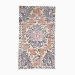4x9 Vintage Middle East Oushak Handmade Wool Oriental Carpet
