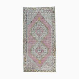 4x8 Vintage Turkish Oushak Handmade Wool Small Carpet