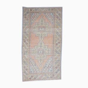 4x8 Vintage Turkish Oushak Handmade Wool Oriental Carpet