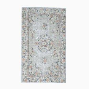 4x7 Antique Turkish Oushak Handmade Wool Sage Carpet