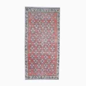 4x5 Vintage Turkish Oushak Handmade Wool Floral Carpet
