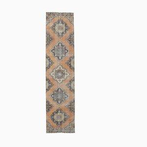 3x13 Türkischer Vintage Oushak Orientware Teppich aus Wolle