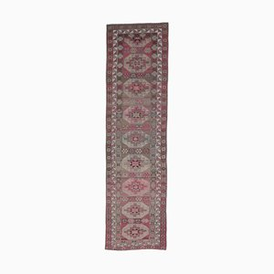 3x12 Vintage Turkish Oushak Hand-Knotted Wool Pink Rug