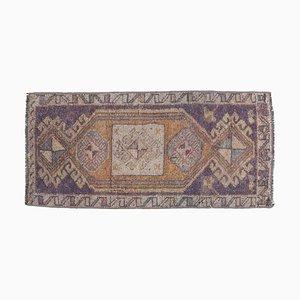 Tappeto o tappeto Tappeto Oushak vintage 1x3 con lana fatta a mano, Turchia