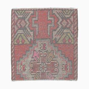 Türkischer Vintage Oushak Vintage 2x2 Quadrat Teppich oder Fußmatte