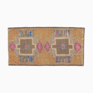2x3 Vintage Turkish Oushak Doormat or Small Carpet