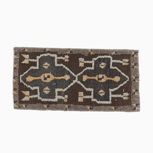 Türkische Vintage Oushak Vintage Fußmatte oder Teppich aus 1x2
