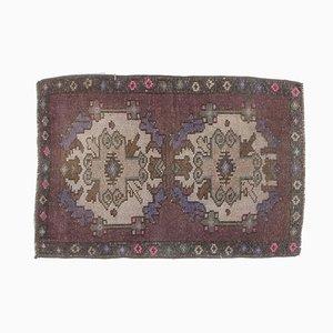 2x3 Antique Turkish Oushak Rug Doormat or Small Carpet