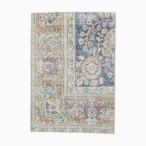 2x3 Vintage Turkish Eastern Figure Oushak Rug Doormat