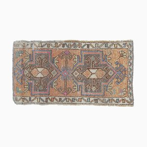 2x3 Türkischer Vintage Oushak Fußmatte aus handgewebter Wolle