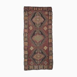 5x12 Vintage Turkish Oushak Handmade Red Wool Kilim Area Rug