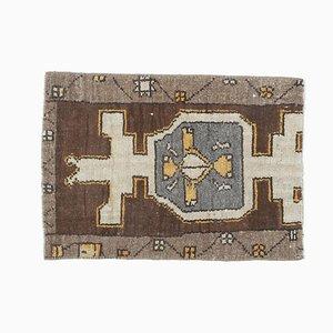2x2 türkischer Vintage Oushak Fußmatte oder Kleiner Teppich