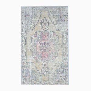 Handgeknüpfter 4x7 Antiker Oshak Teppich aus Wollstoff in Nahost