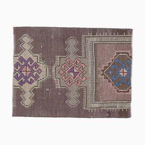 2x3 Vintage Turkish Oushak Round Rug Doormat or Small Carpet