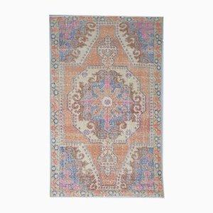 Handgemachter orientalischer 4x7 Oriental Oushak Wollteppich