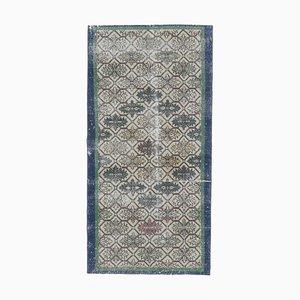 3x6 Handgeknüpfter türkischer Vintage Teppich aus handgewebtem Oushak-Stoff