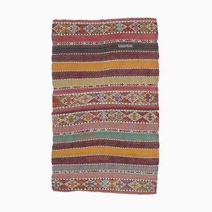 3x6 Vintage Turkish Kilim Oushak Handmade Wool Navajo Rug