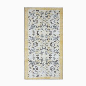 Handgeknüpfter türkischer Vintage Oushak Vintage Teppich aus Wolle