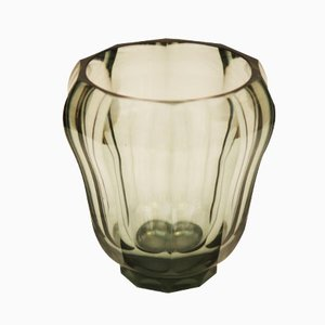 Art Deco Crystal Glass Vase