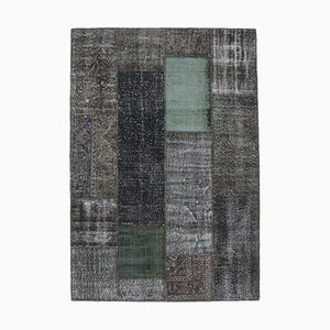 5x8 Vintage Turkish Oushak Handmade Wool Patchwork Rug