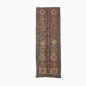 5x13 Vintage Turkish Oushak Handmade Wool Kilim Area Rug