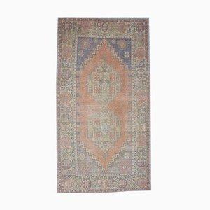 Handgeknüpfter türkischer Vintage Oushak Teppich aus Wolle