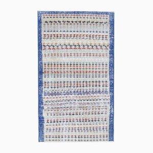 2x4 Vintage Turkish Oushak Handmade Wool Runner Rug