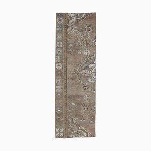 Tappeto Oushak vintage fatto a mano, lana, 2x7