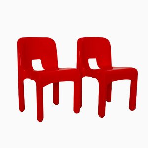 Model 4860 Plastic Chairs by Joe Colombo for Kartell, 1960s, Set of 2