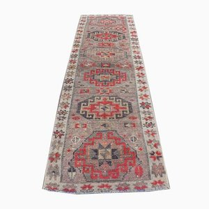 3x9 Vintage Turkish Oushak Handmade Wool Runner Rug