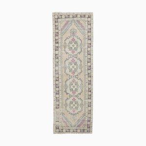 3x9 Vintage Turkish Oushak Handmade Wool Runner Rug
