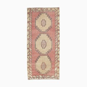 3x7 Vintage Turkish Oushak Handmade Pastel Wool Carpet