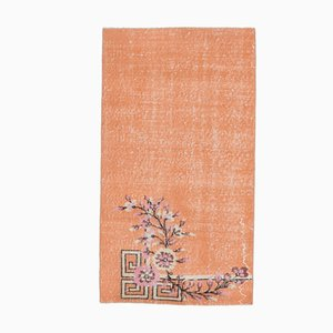 3x5 Türkischer Vintage Floraler Teppich in Orange