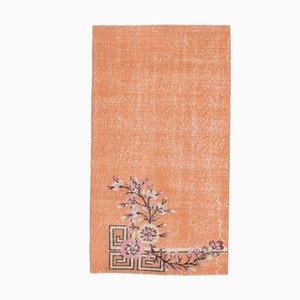 3x5 Vintage Turkish Orange Floral Carpet