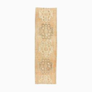 3x10 Türkischer Vintage Oushak Handgewebter Orientalischer Teppich aus Wolle