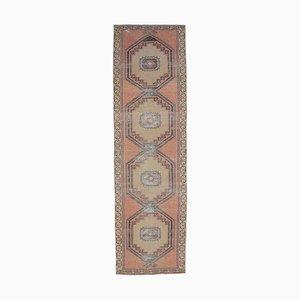 Türkischer Vintage Oushak Handgemacht Pastel Wollteppich 4x13