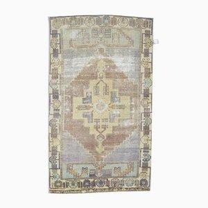 Handgeknüpfter türkischer 4x7 Oriental Läufer Teppich aus Wolle