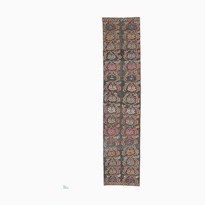 3x15 Türkischer Langer Vintage Oushak Handgeknüpfter Floraler Woll Teppich