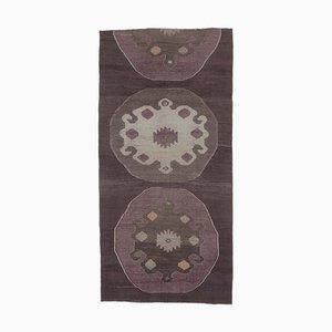 5x10 Vintage Turkish Wide Oushak Handmade Wool Runner Rug